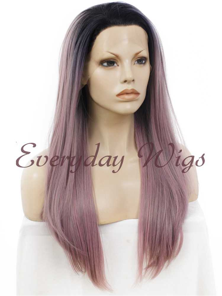 "24"" Ombre Straight Synthetic Lace Front Wig- edw006"