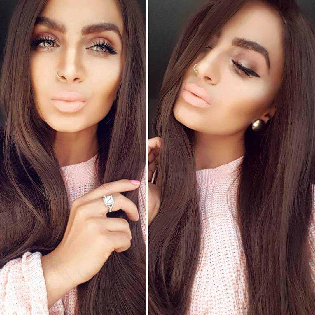 24 3 Medium Dark Brown Long Straight Synthetic Wigs Edw021