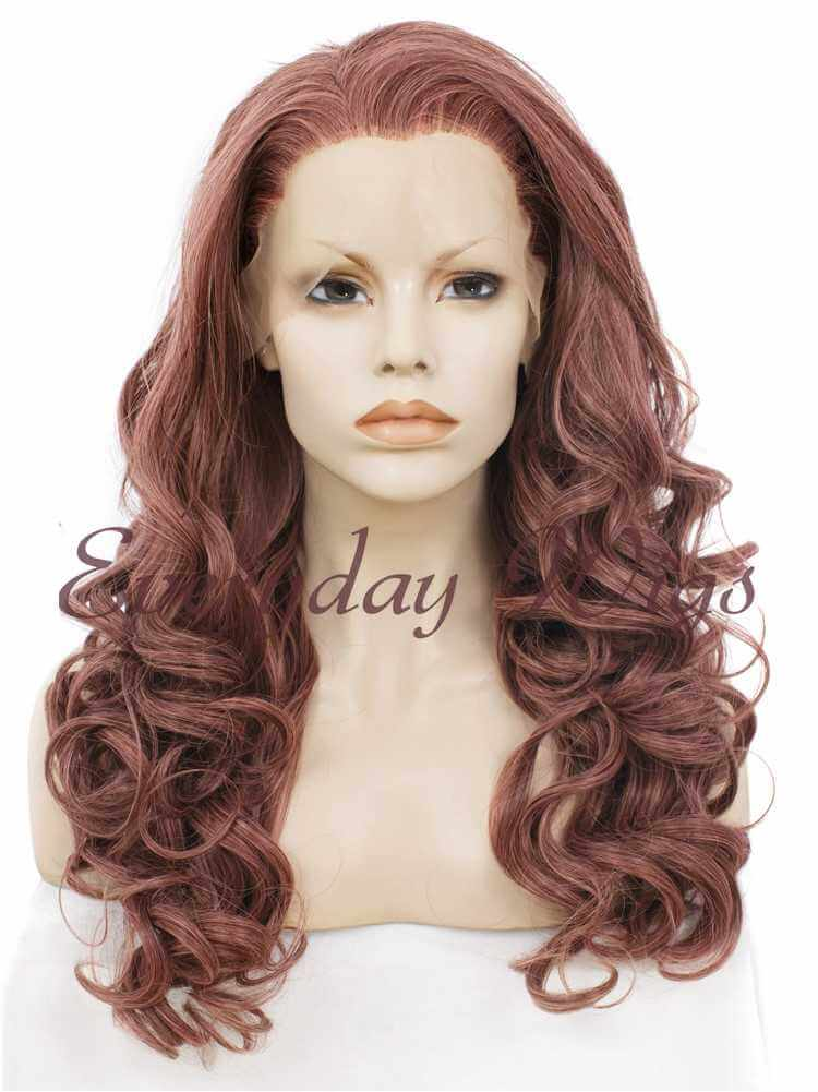 "24"" SiennaWavy Synthetic Lace Front Wig- edw022"
