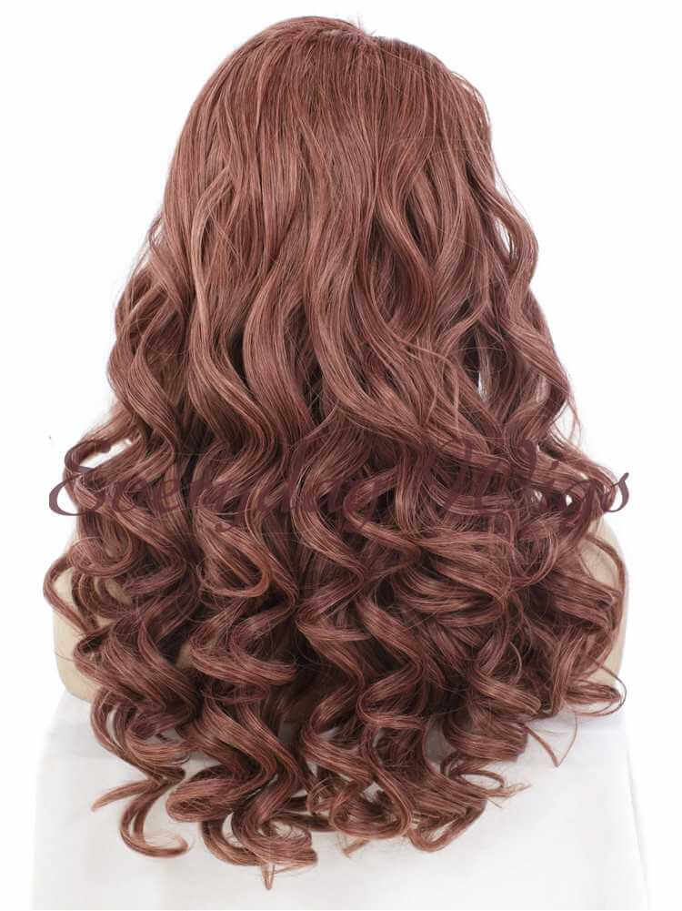 "24"" Sienna Wavy Synthetic Lace Front Wig- edw022"