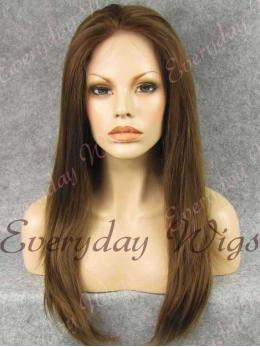 "24"" Long Straight Synthetic Lace Front Wig - edw024"