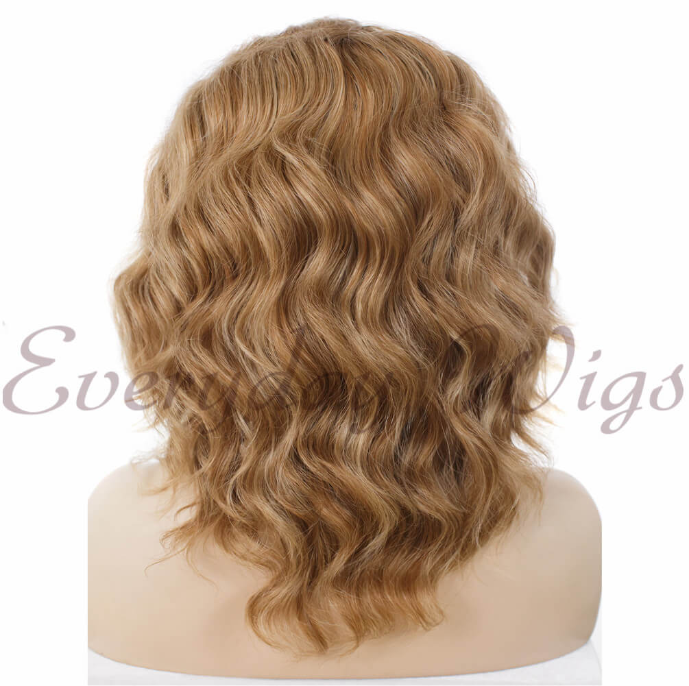"24"" Peacock Blue Ombre Long Wavy Synthetic Lace Front Wig- edw025"