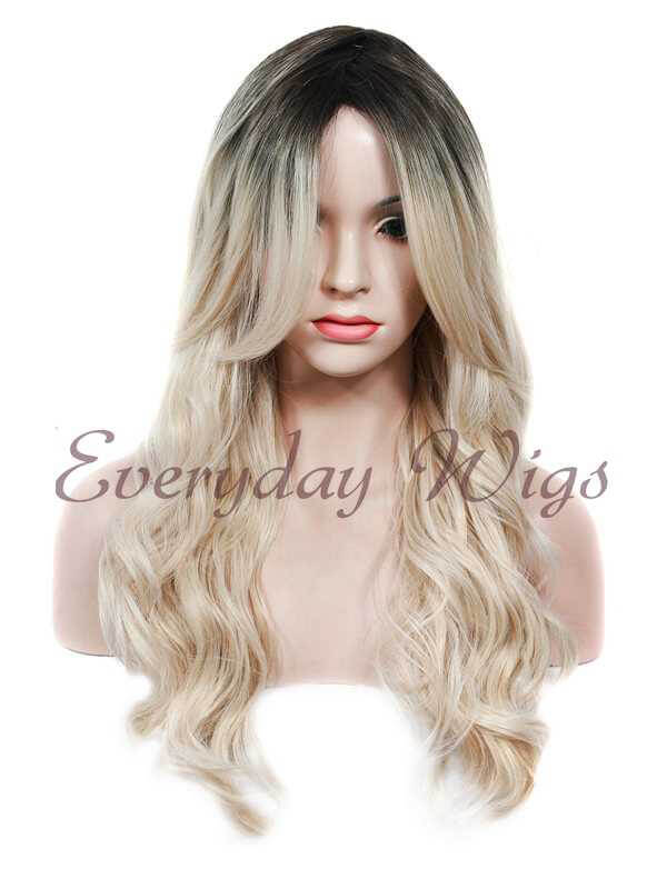 "30"" Super Long Dark Orange Straight Synthetic Lace Front Wig- edw028"