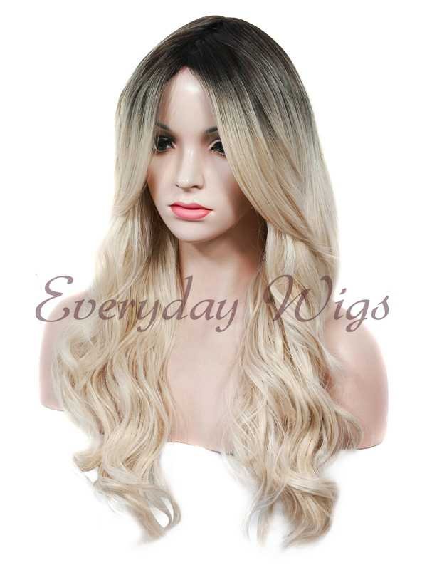 "24"" Ombre Blonde Wefted Cap Synthetic Wig - edw028"