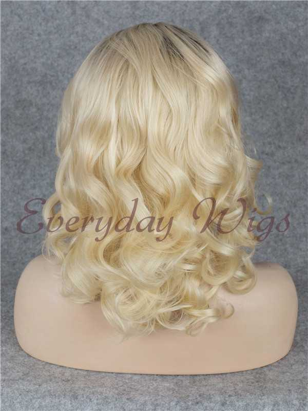 "16"" Brown Blonde Ombre Wavy Synthetic Lace Front Wig- edw031"