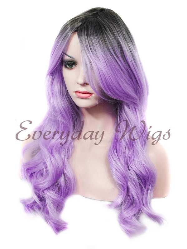 "24"" Wefted Cap Ombre Synthetic Wig - edw032"