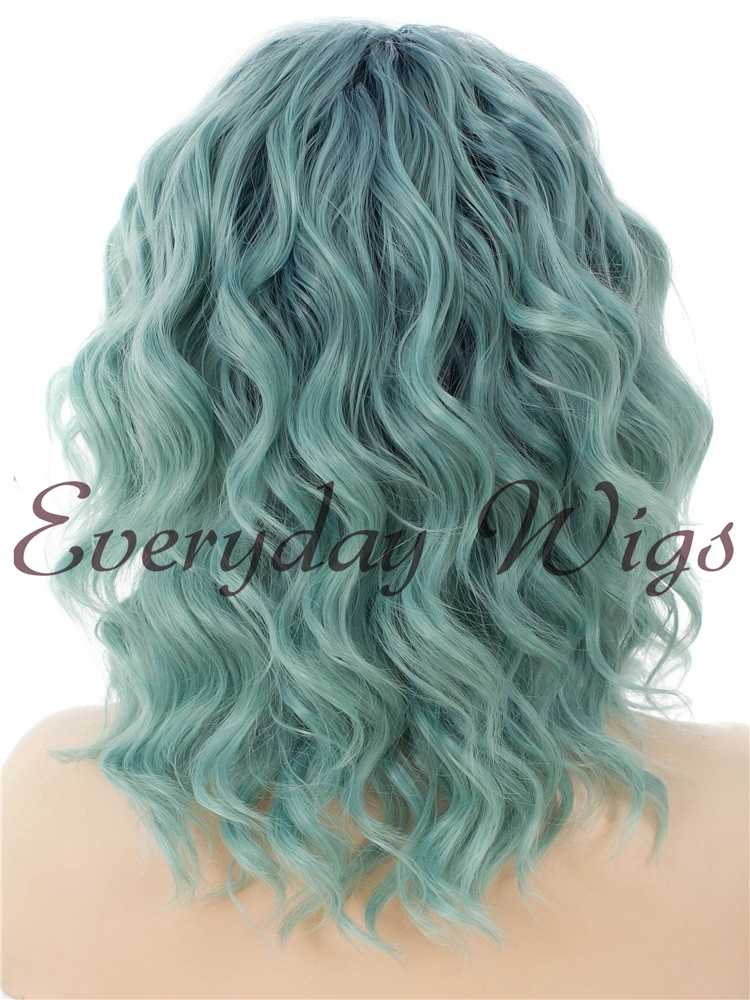 "14"" Ombre wavy Bob Synthetic Lace Front Wig- edw034"