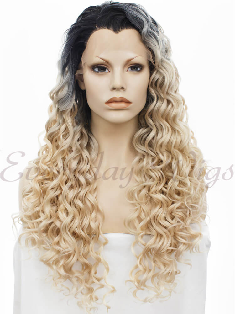 "24"" Long Straight Synthetic Lace Front Wig - edw038"