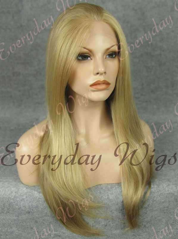 "24"" Long Straight Synthetic Lace Front Wig - edw043"