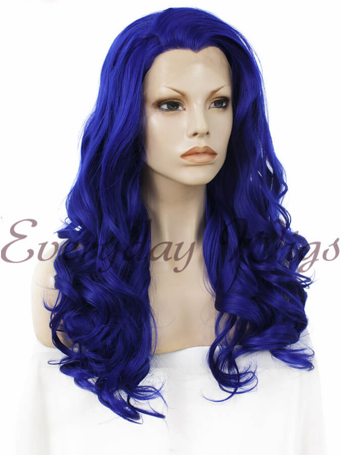 "24"" Three-tone Color Long Straight Synthetic Lace Front Wig - edw058"