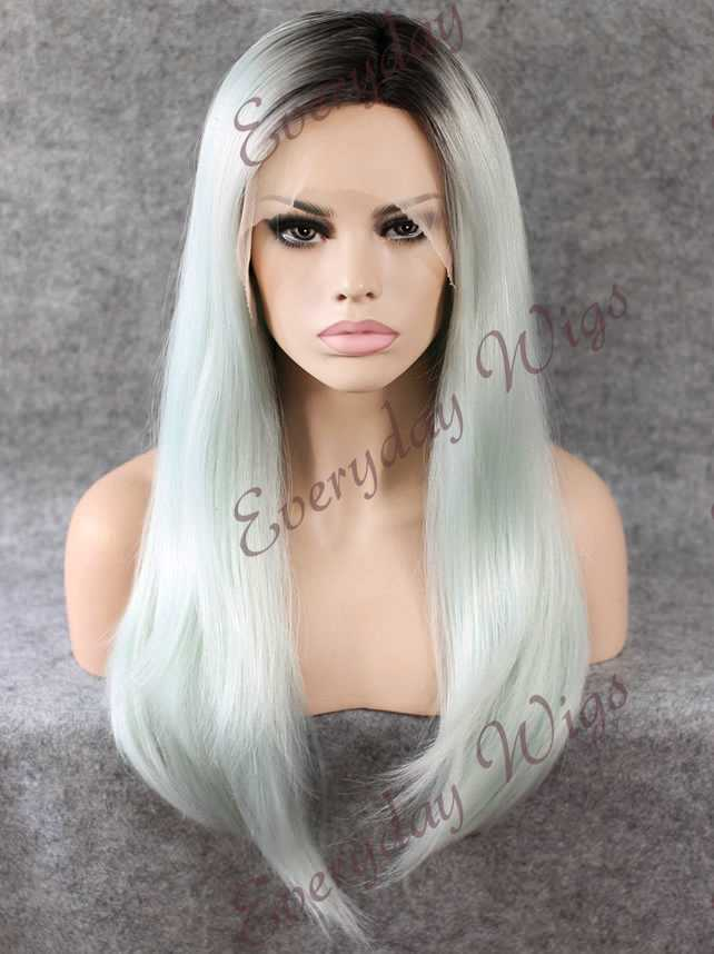 "24"" Long Curly Synthetic Lace Front Wig - edw080"