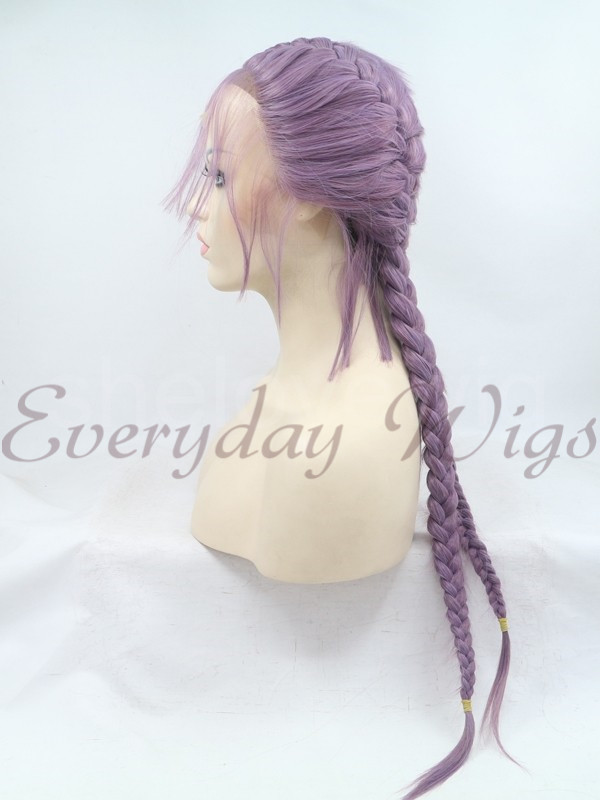"24"" Ombre blue Synthetic Lace Front Wig-edw1002"