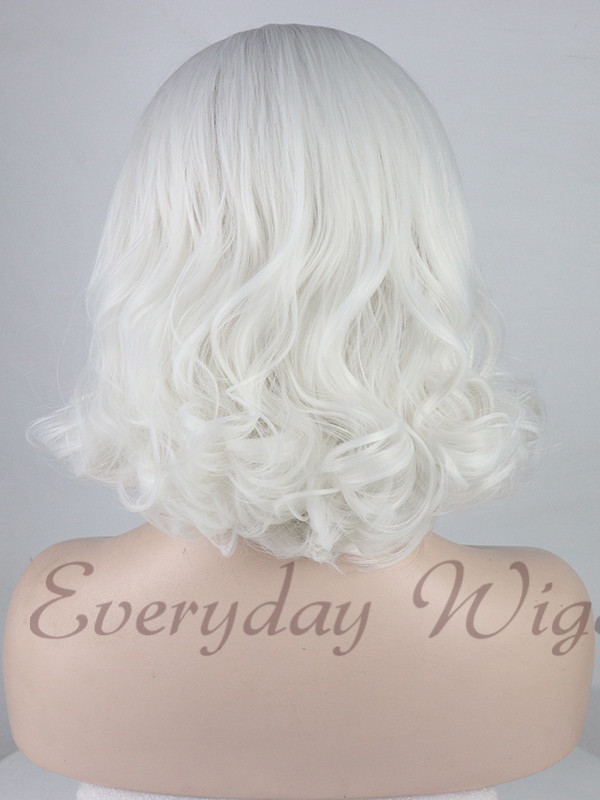 Black Ombre Lavender Wavy Synthetic Lace Front Wig-edw1004