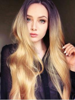 Dark Honey Blonde Ombre Wavy Synthetic Wigs-edw1013
