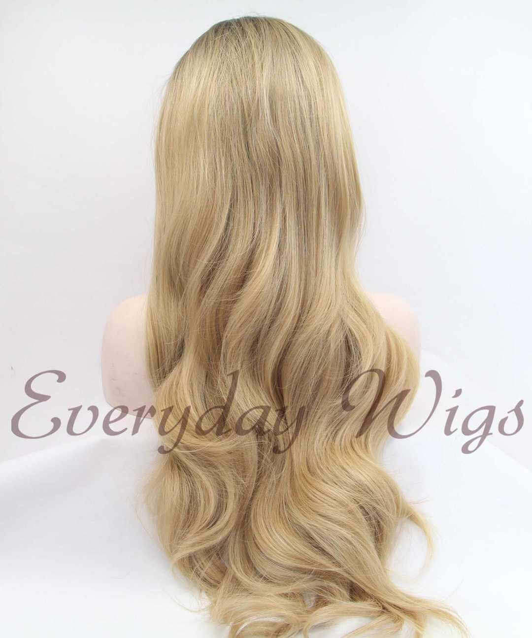 "24"" Natural Honey Blonde Ombre Synthetic Front Lace Wigs-edw1022"