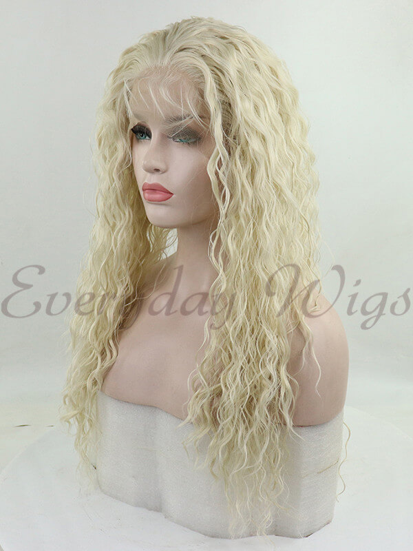 "26"" Light Green Wavy Synthetic Lace Front Wig-edw1034"