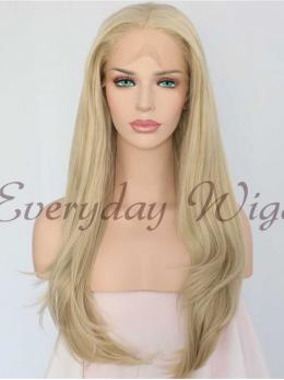 "24"" Blonde straight Synthetic Lace Front Wig - edw1037"