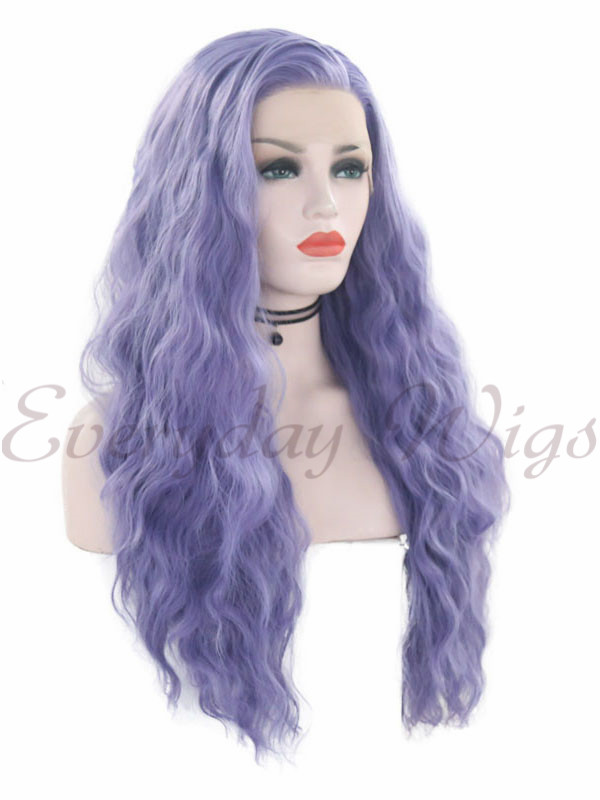 "16"" Blonde Ombre wavy Synthetic Lace Front Wig-edw1038"