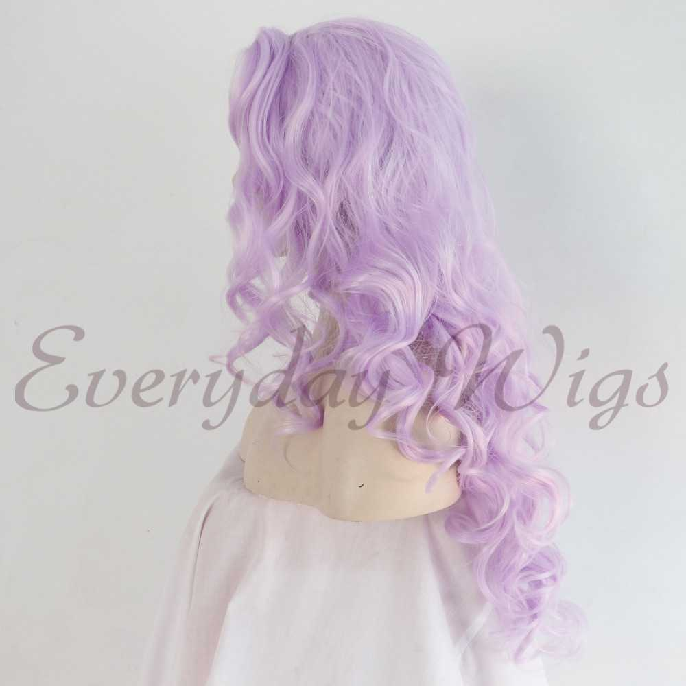"24"" Light Purple Wavy Synthetic Lace Front Wig-edw1045"