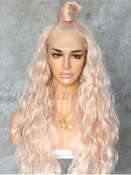 "26"" Long Blonde Highlight Synthetic Wigs-edw1052"