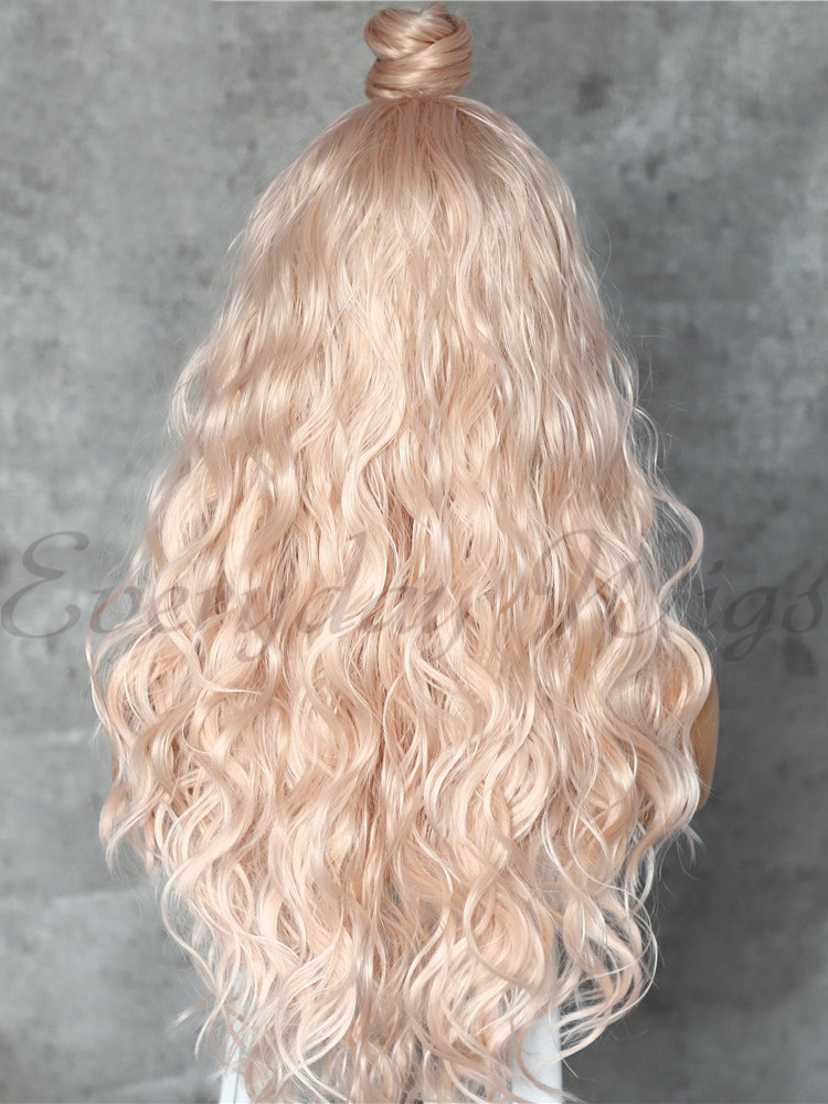 "14"" Auburn Ombre Blonde Straight Synthetic Lace Front Wig-edw1052"