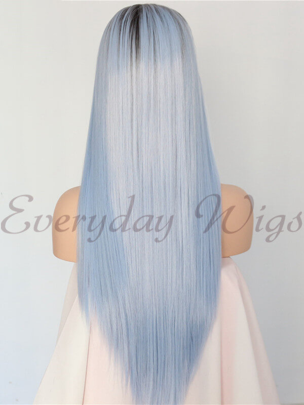 "24"" ombre blue Synthetic Lace Front Wig-edw1056"