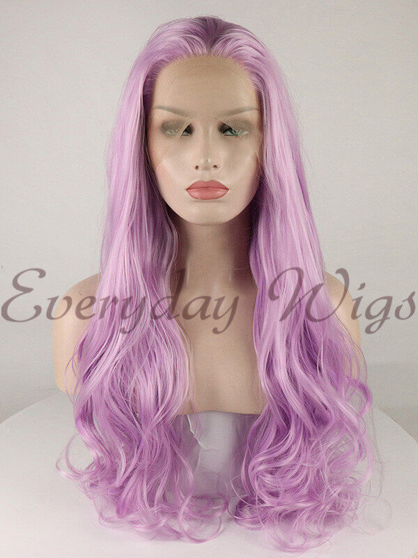"14"" Pink Short Synthetic Lace Front Wig-edw1057"
