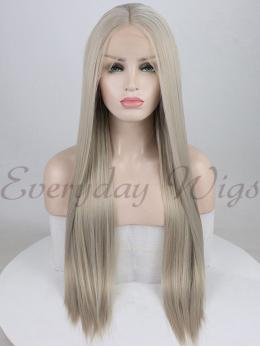 "26"" Ombre Blonde Synthetic Lace Front Wig-edw1059"