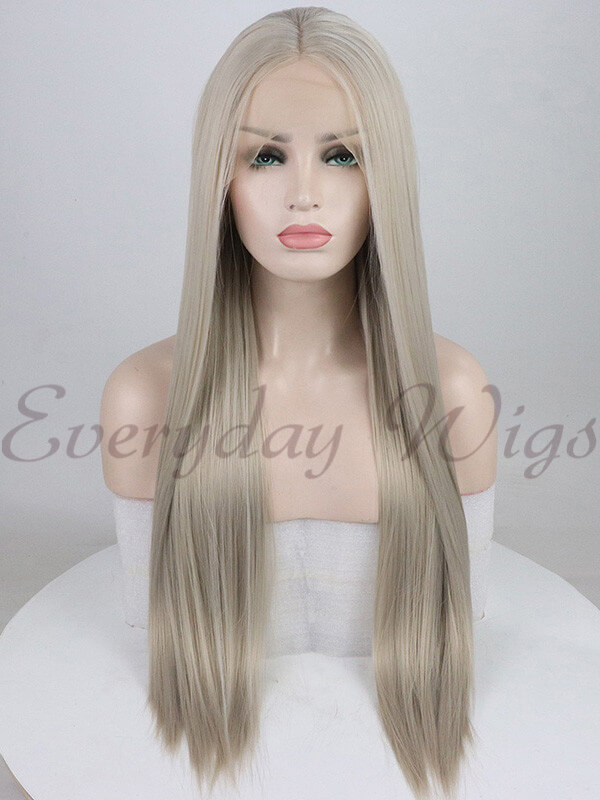 "24"" Pink Ombre wavy Synthetic Lace Front Wig-edw1059"
