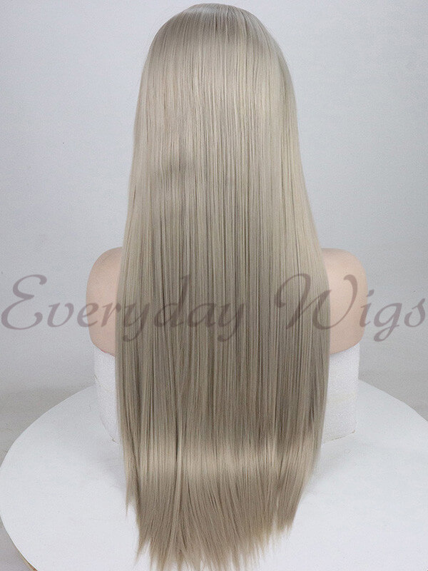 "26"" Grey Blonde Synthetic Lace Front Wig-edw1059"
