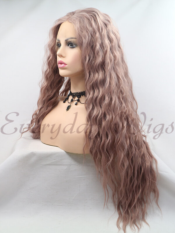 "14"" Off Black/Grey Bob Style Synthetic Lace Front Wig-edw1064"
