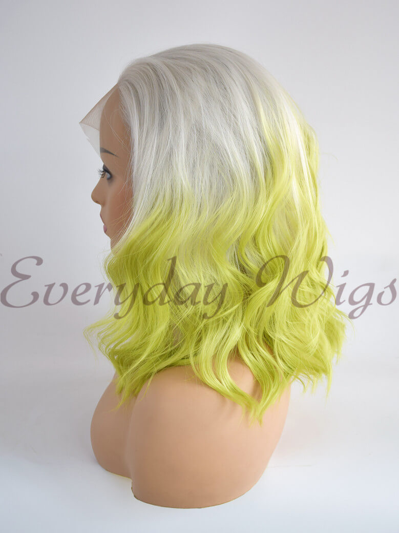 "24"" Three-tone Color Long Straight Synthetic Lace Front Wig - edw1065"