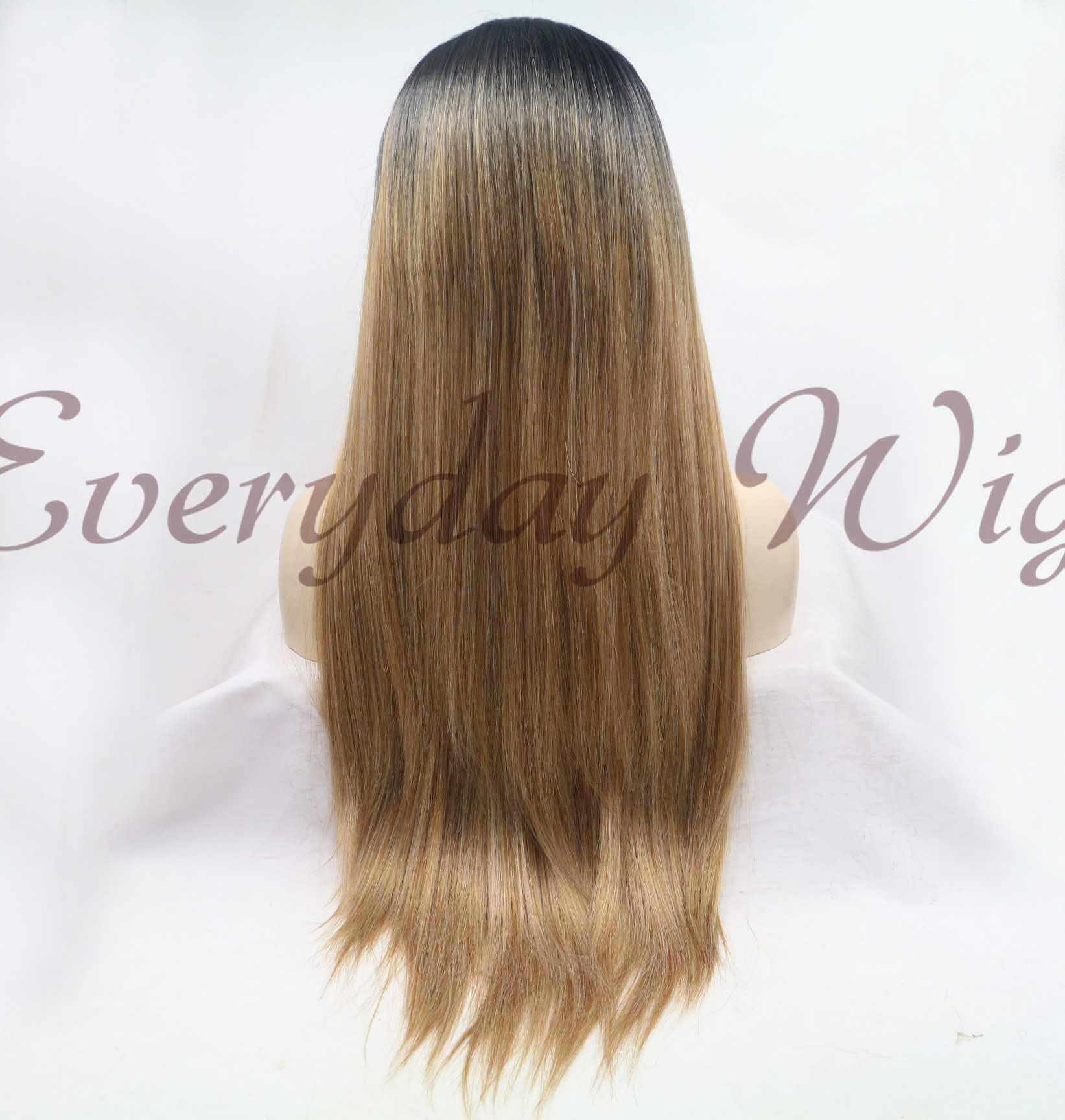 "24"" ombre Synthetic Lace Front Wig-edw1066"