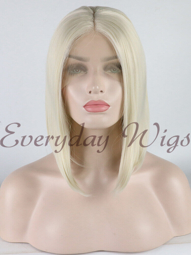 "24"" Dark Pink Long Wavy Synthetic Lace Front Wig - edw1067"