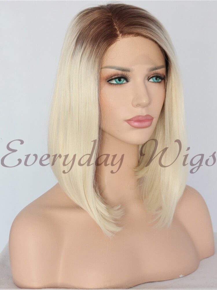 "14"" Ombre blonde Synthetic Lace Front Wig-edw1070"