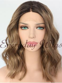 "14"" Ombre Brown short Bob Synthetic Wigs-edw1072"