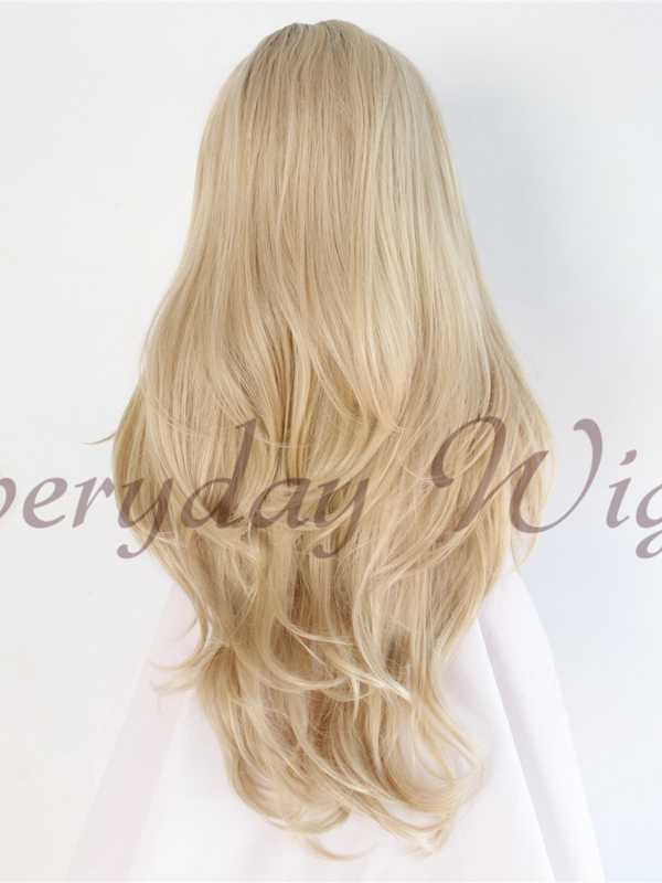 "26"" Blonde Ombre Straight Synthetic Lace Front Wig-edw1074"