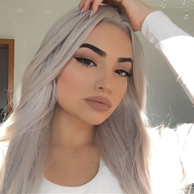 "24"" Light Grey Straight Synthetic Lace Front Wig-edw1077"