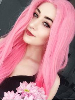 """24"""" Pink Wavy Synthetic Lace Front Wig-edw1081"""