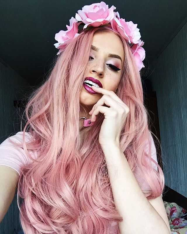 26 Candy Pink Wavy Synthetic Lace Front Wig Edw1082