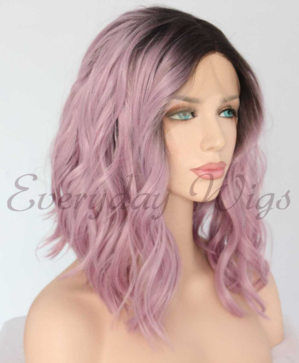 "26"" Black Blonde Ombre Straight Synthetic Lace Front Wig-edw1084"