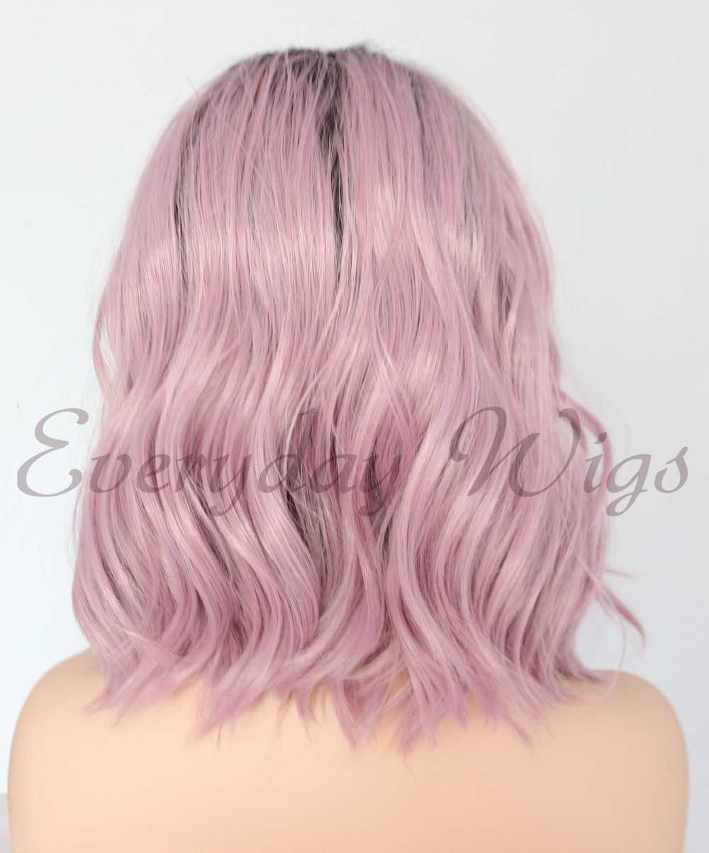 "14"" pastel purple ombre wavy bob Synthetic Lace Front Wig-edw1084"