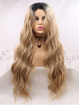 "26"" Long red and black Synthetic Lace Front Wigs-edw1086"