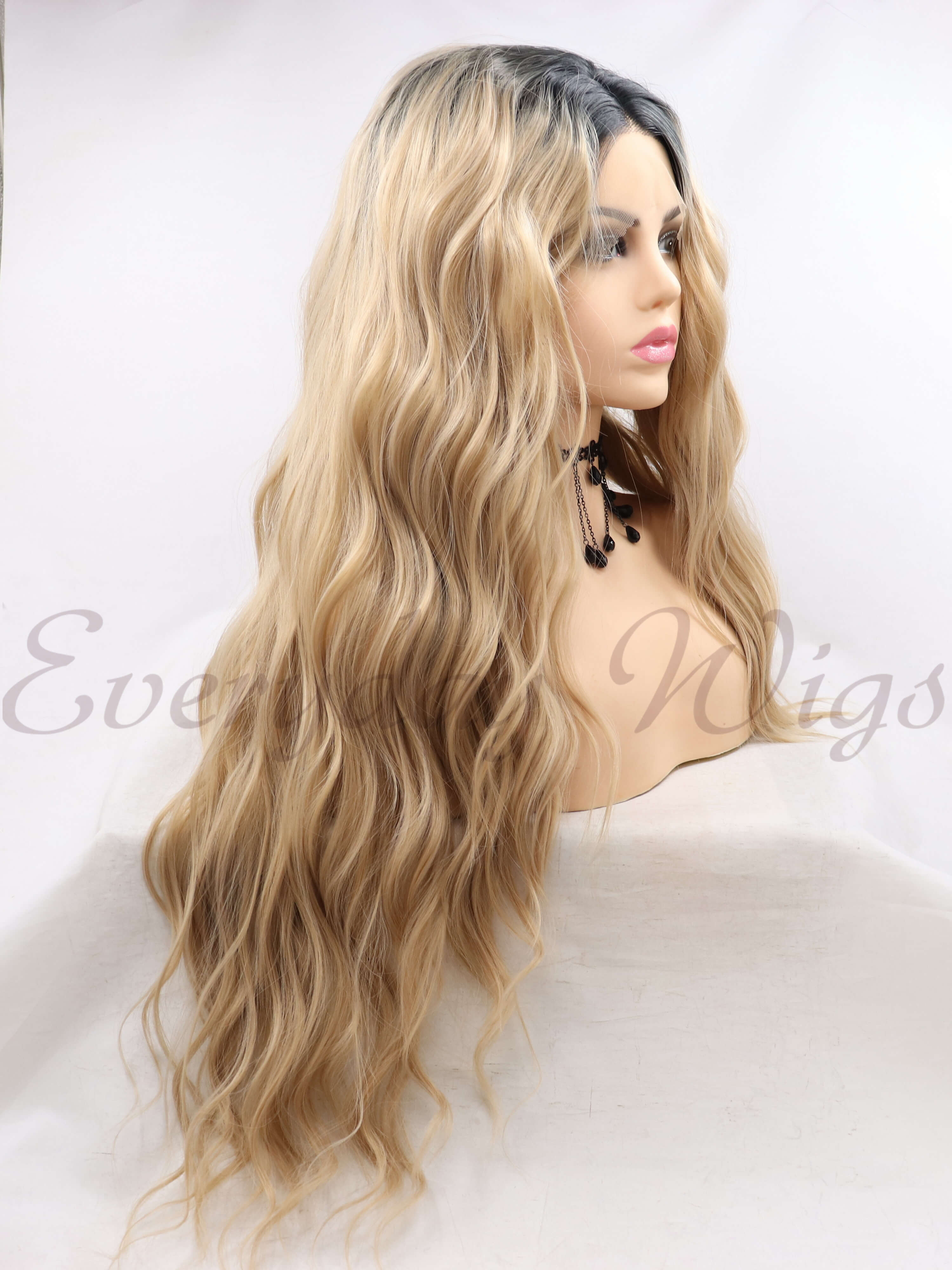 "26"" ombre straight Synthetic Lace Front Wigs-edw1086"