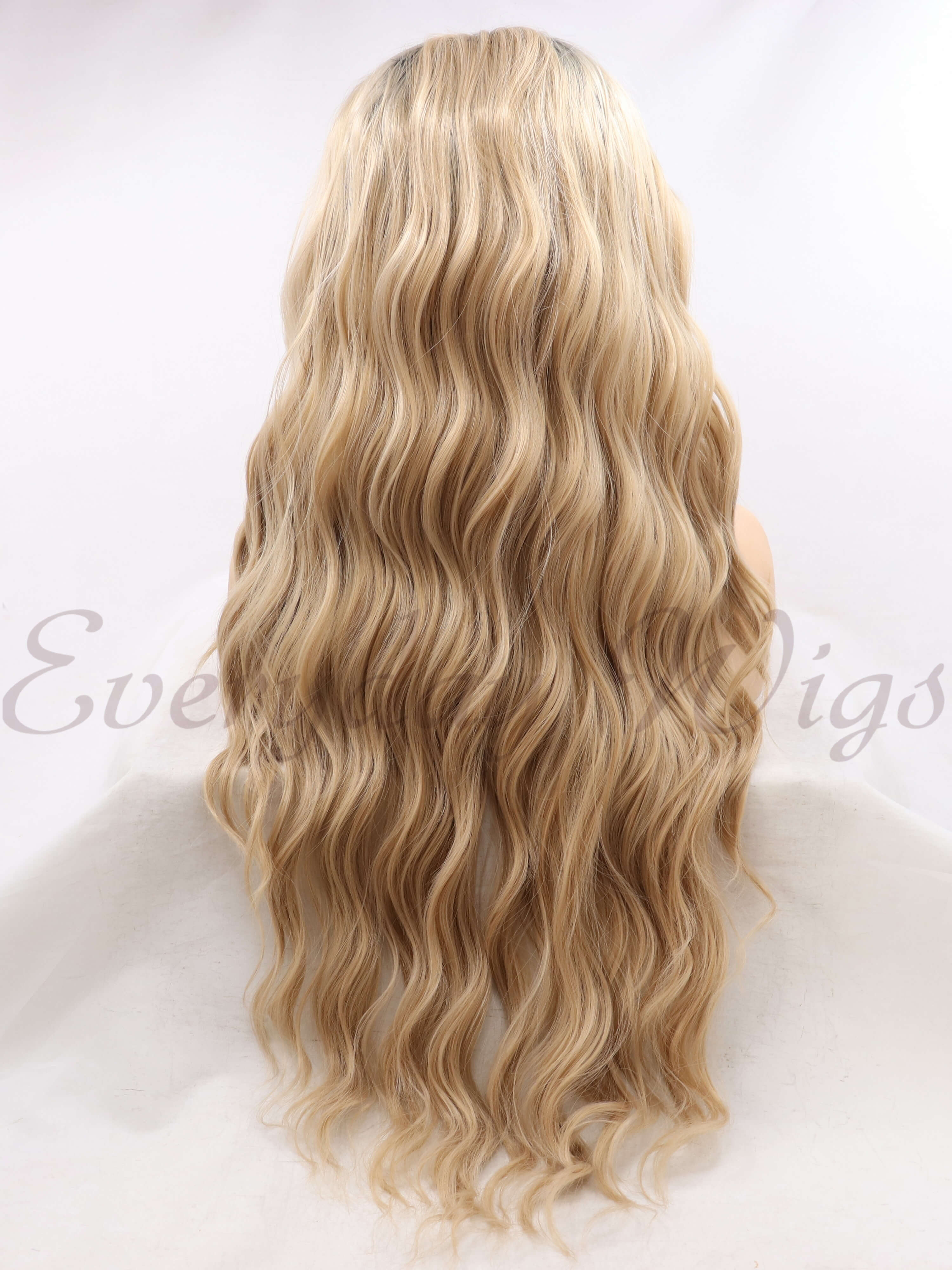 "26"" Ombre Brown Synthetic Lace Front Wigs-edw1086"
