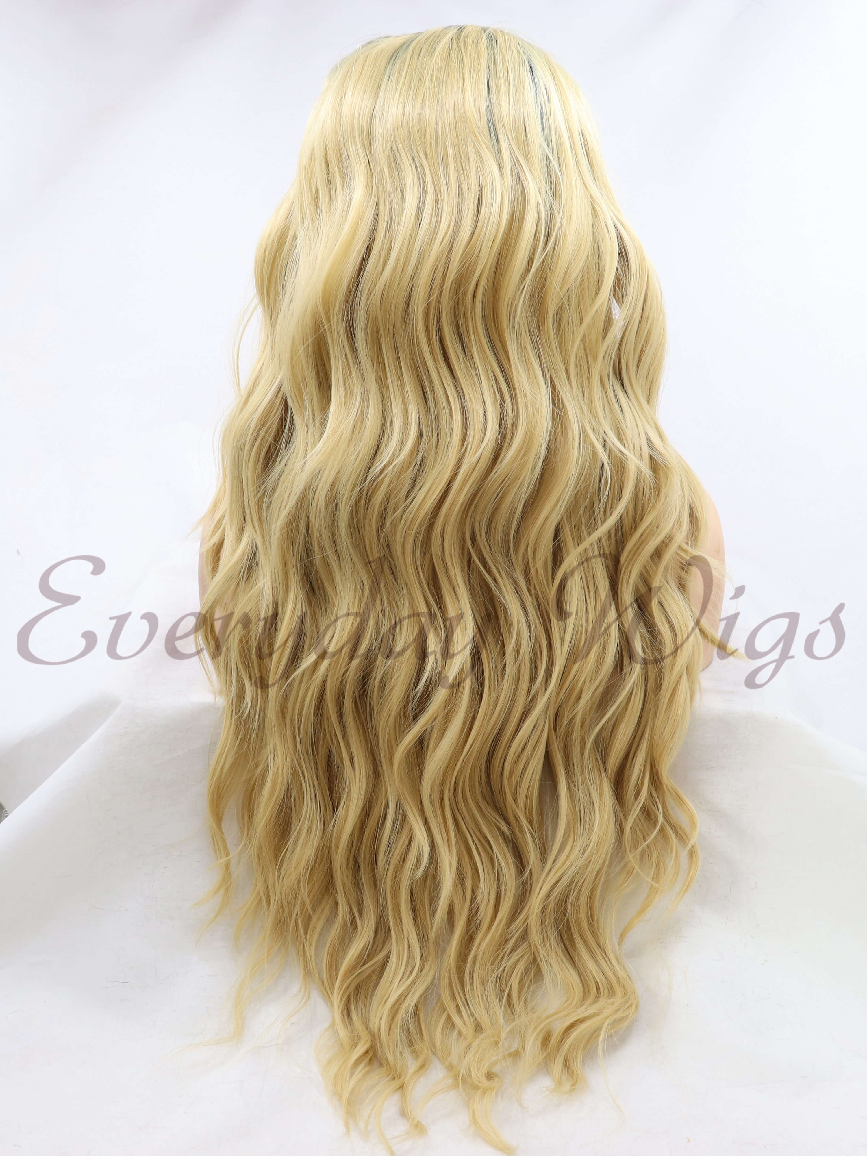 "26"" Long Brown Blonde Synthetic Lace Wigs- edw1087"