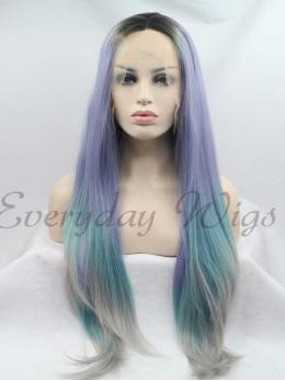 "26"" Ombre Straight Synthetic Lace Front Wig-edw1093"