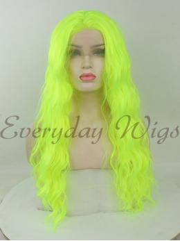"24"" Green Wavy Synthetic Lace Front Wigs-edw1095"
