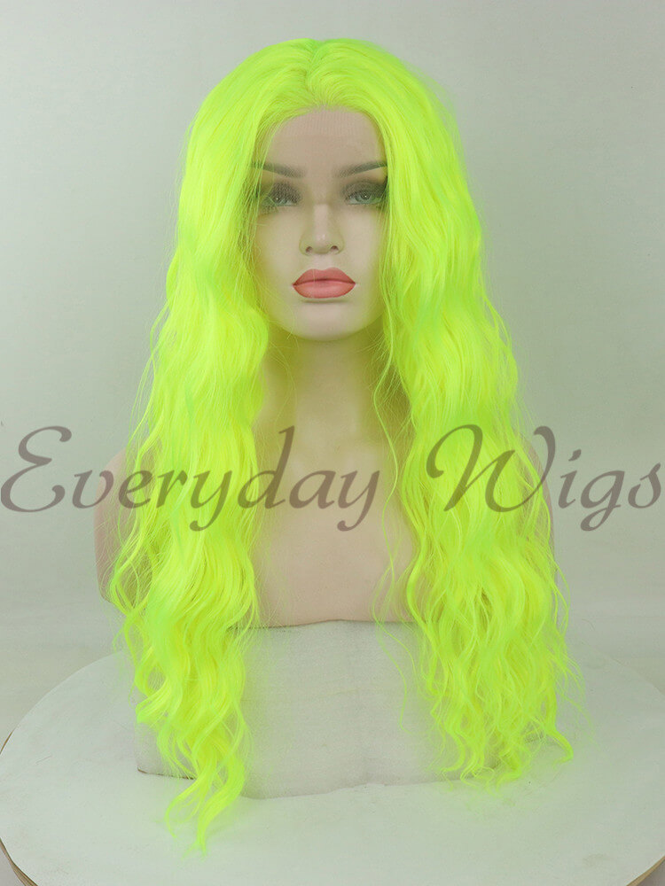 "24"" pink Ombre Wavy Synthetic Lace Front Wigs-edw1095"