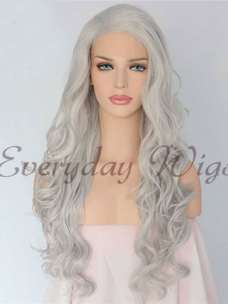 "26"" Three-tone Ombre Color Silky Straight Synthetic Wig-edw1099"